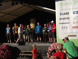 Prisutdelning efter etapp 4. Foto: Lars Bengtsson.